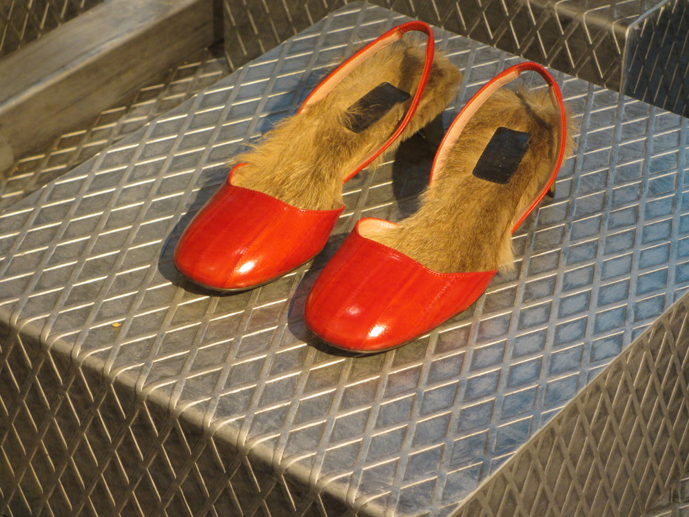 Furry lined sling backs, may be deer Gucci are you lost?