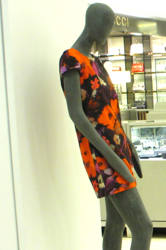 "The Chloé dress by Milly has an Andy Warhol ""Flowers"" feel."