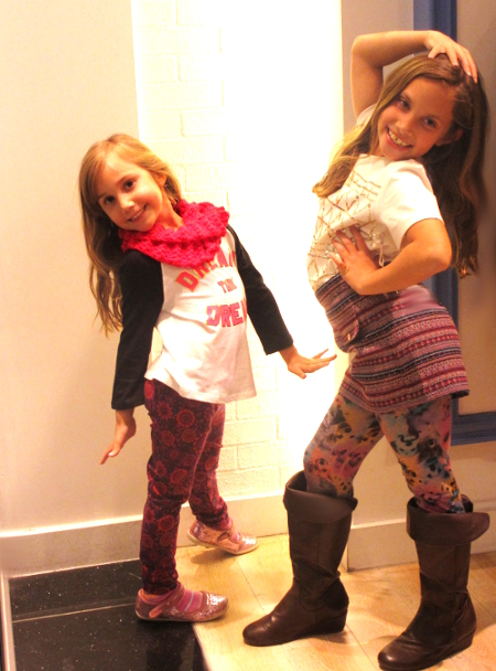 The Fashionistas Junior strike a pose at FOREVER 21 KIDS