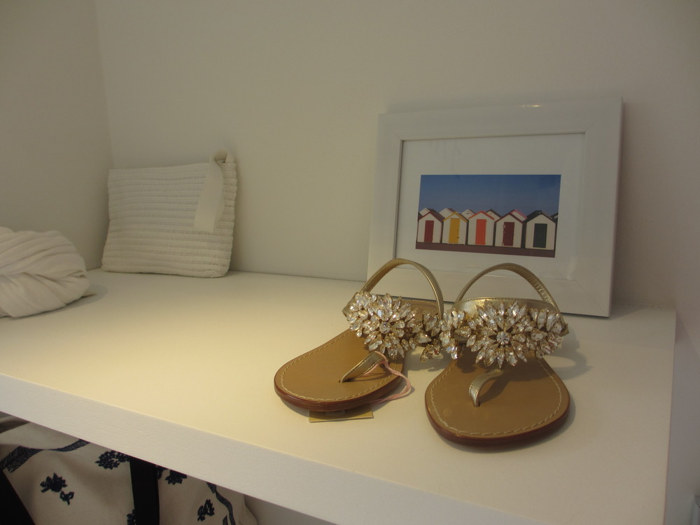 Must Have! The Rhinestone sandals at MARE.