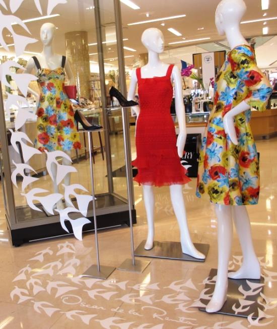 Viva Espana Spring 2016 SFA for Oscar de la Renta, floral print A-line dress.