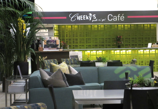 Cheeky's Café desk for my morning Latte.