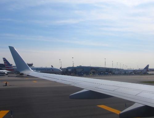 Just after landing...