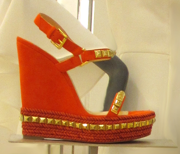 The Red Cataclou Wedges remind me of Valentino styles