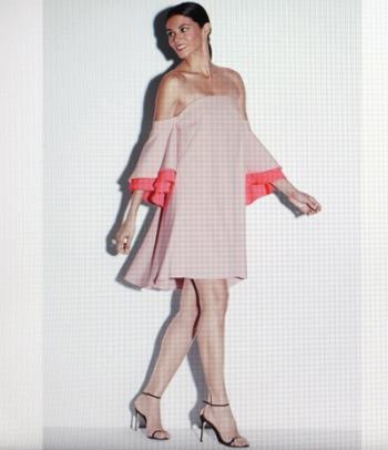 Cady Flutter Sleeve in Petal