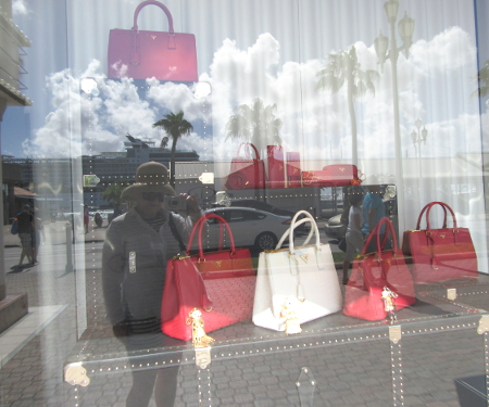 Prada in red and white perfect for the Caribbean