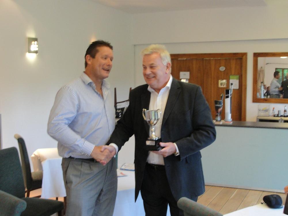 Rod Benwell receiving the Steve Beckett Trophy  Hampton Court