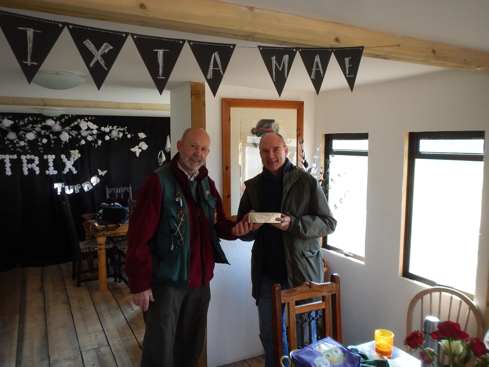 Presenting Monk Trophy to Gerry Overy