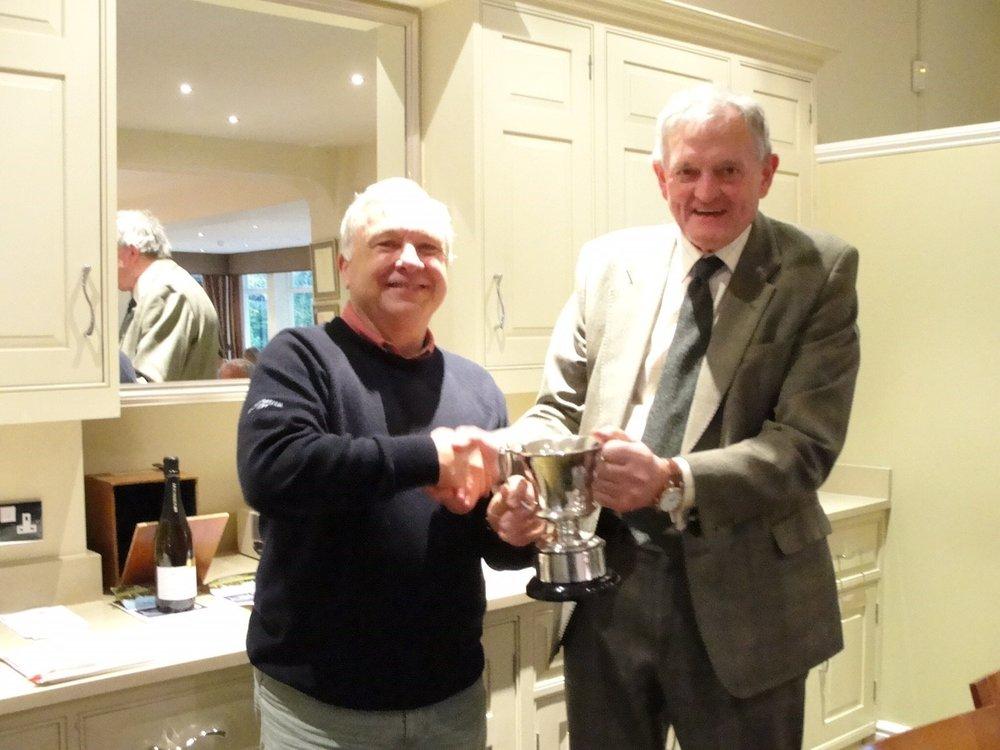 Martin Stears accepting the Syd Humphries Trophy