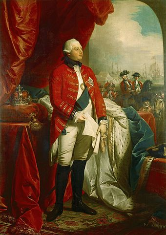 George III:  thinking about America, looking bewildered...