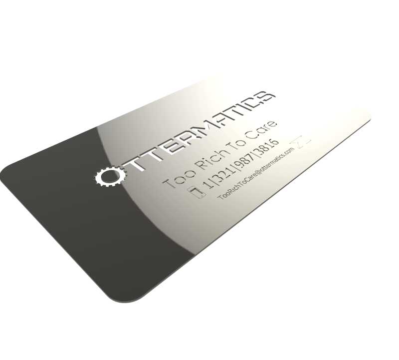 Worlds most expensive business cards ottermatics design for Most expensive business card