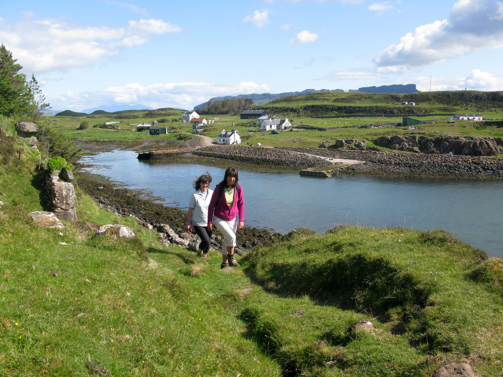 Walking from Port Mhor, Isle of Muck
