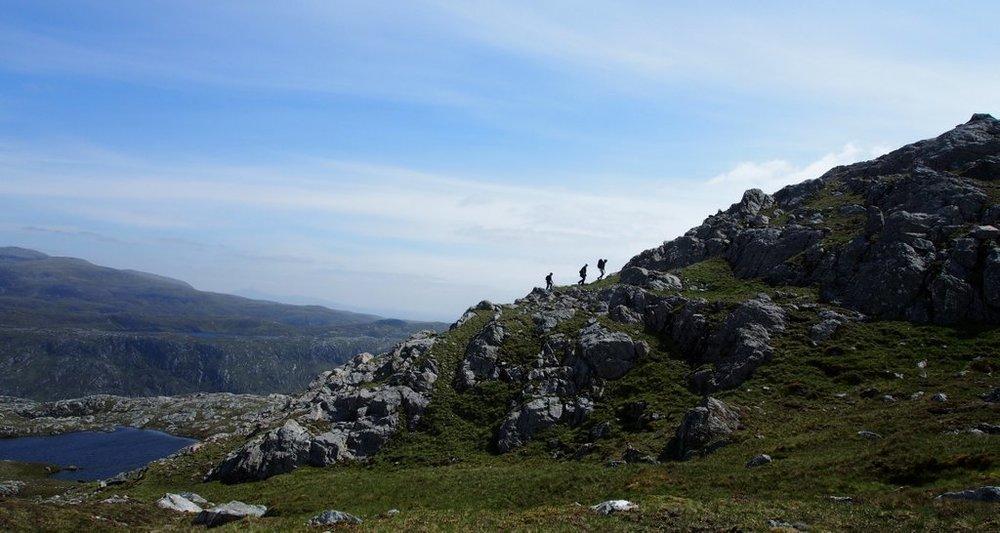 Cloud 9 Walking Holidays group walking in Scotland