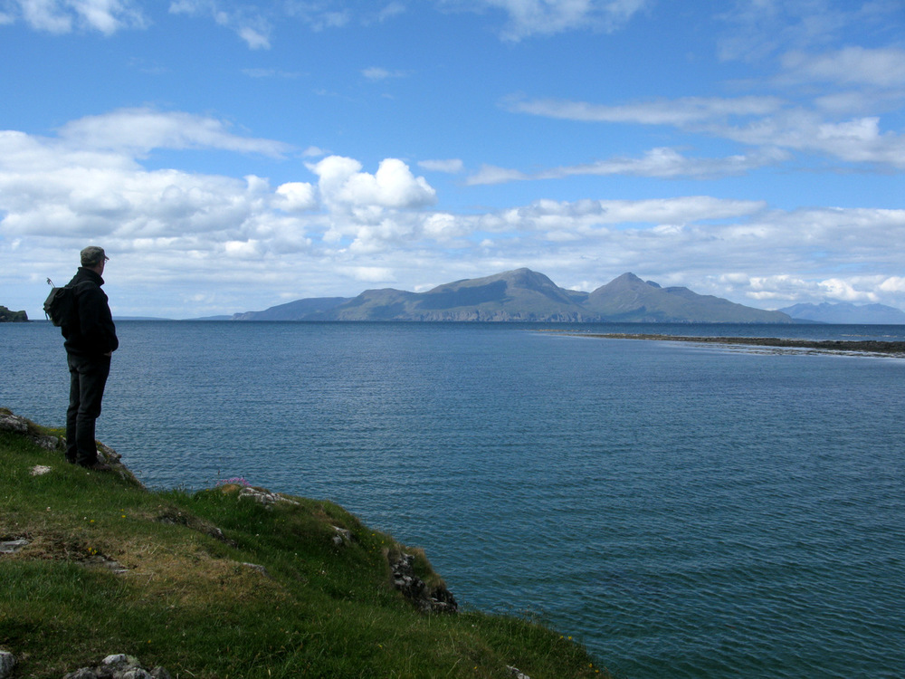 Looking towards the Isle of Rum from the Isle of Muck