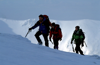 Winter hillwalking in the Cairngorms