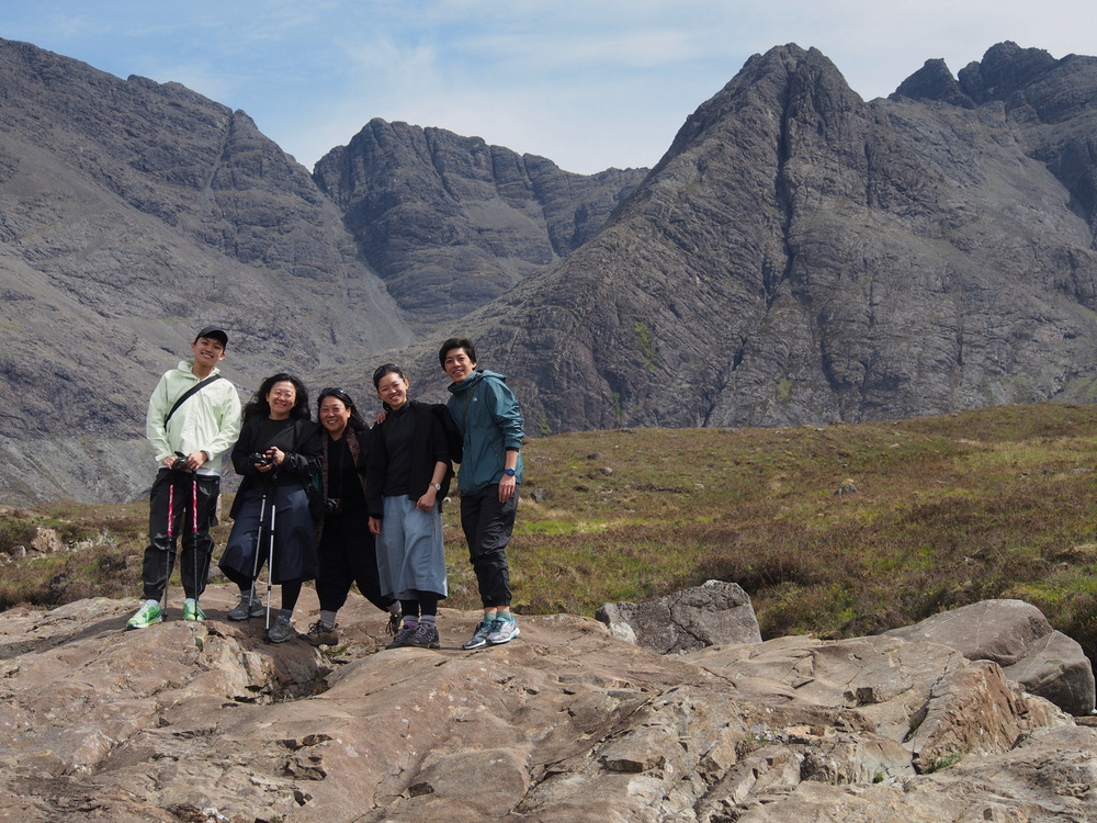 Group from Singpore enjoying a walking holiday in Scotland