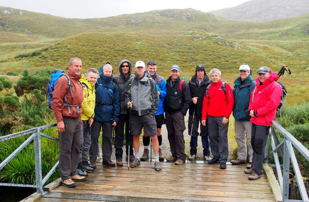 Cloud 9 walking holidays group in Scotland
