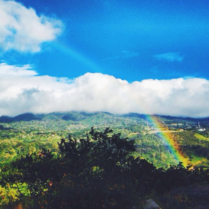 Rainbow while riding   | Photo: Olivia Christine