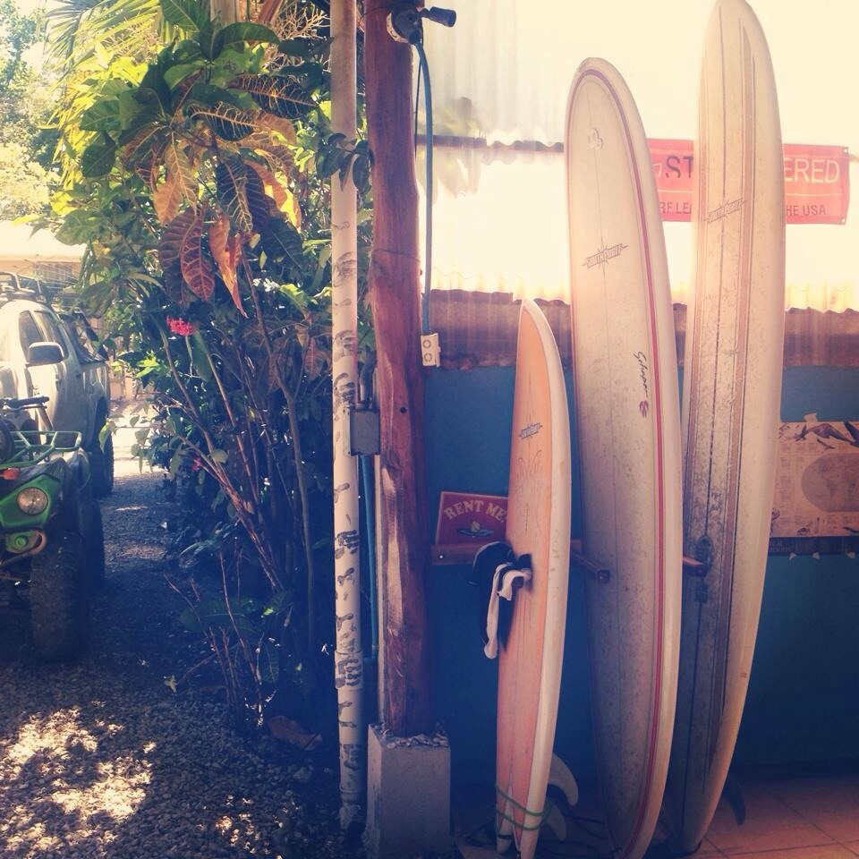 Surfboards at my hostel  | Photo: Olivia Christine