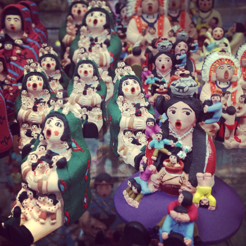 Hand painted porcelain figurines at the local Native art shop. Photo: Olivia Christine | Denver, CO