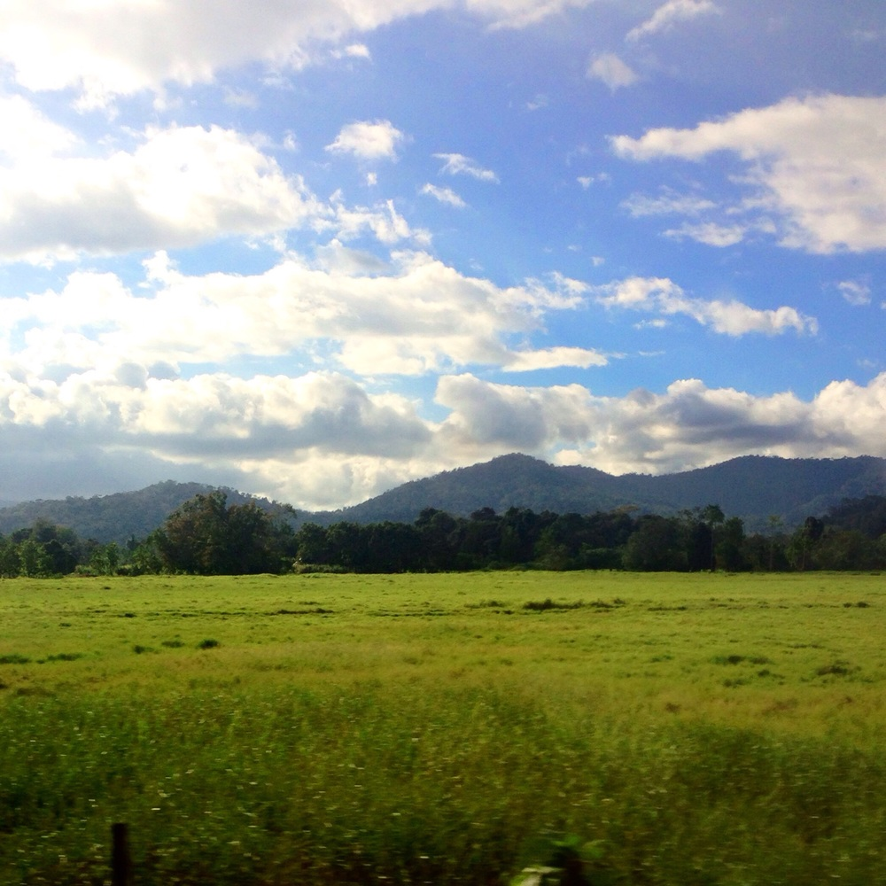 I was extremely excited to return to beautiful Costa Rica. What I love most about the country is the mountainous silhouette surrounding me, no matter where I go. This shot was taken on an eight-hour bus ride from San Jose to Puerto Jimenez, in the Osa Peninsula, down Route 2.