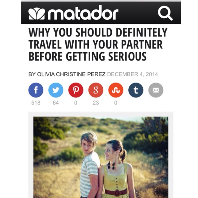 """Why You Should Travel With Your Partner Before Getting Serious"" Read the article >>"