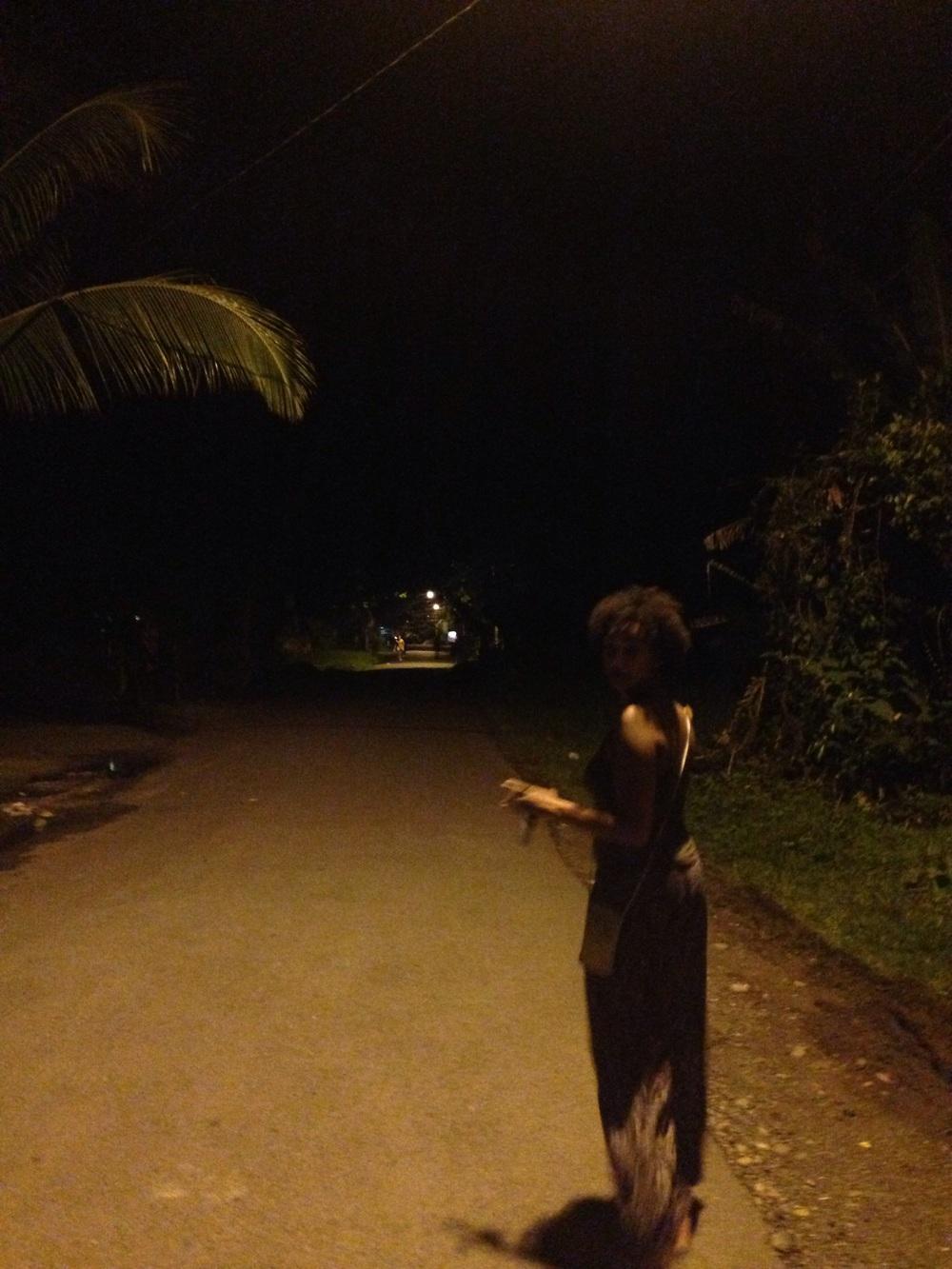 Night walk in Puerto Viejo, Costa Rica