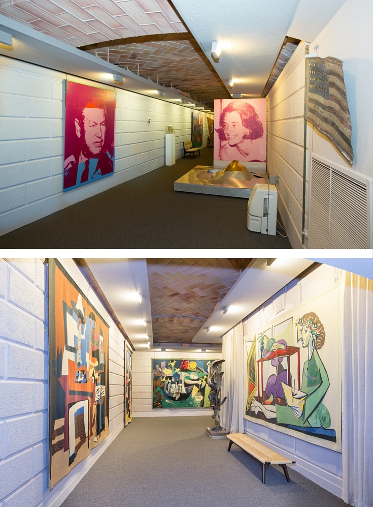 Basement art collection photos by Jaime Martorano