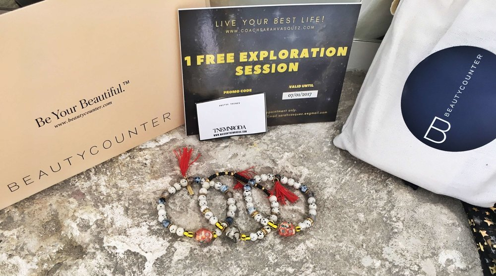 Beautycounter // TNEMNRODA // Sarah Vasquez -- Swag Bag donors