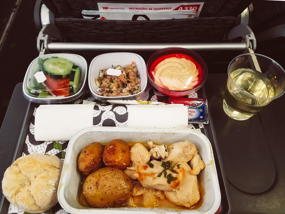 Dinner on TAP Portugal International Flight (OPO > EWR)