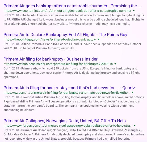 Primera Air bankrupt articles - ochristine
