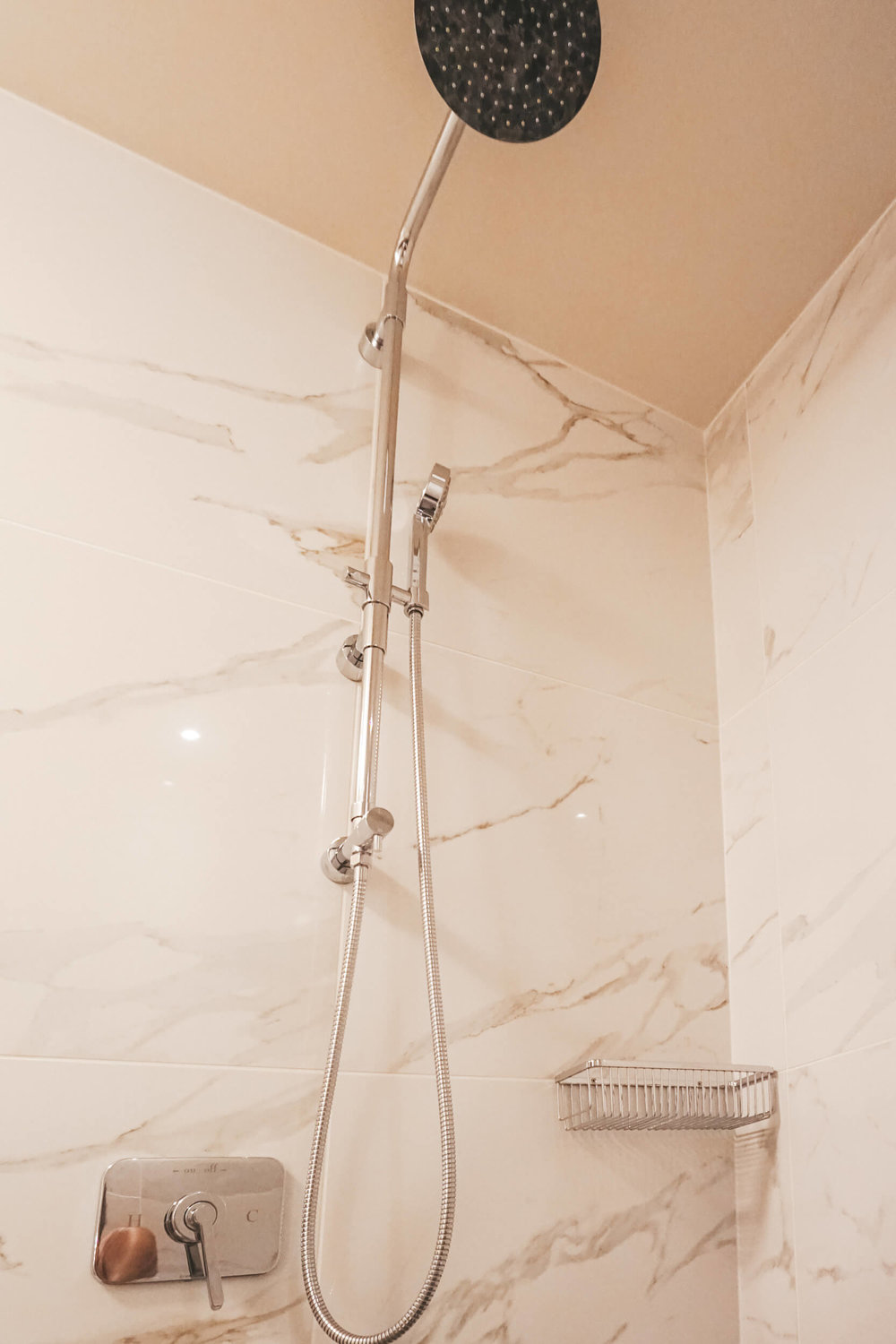 Luxury shower at Viceroy Chicago