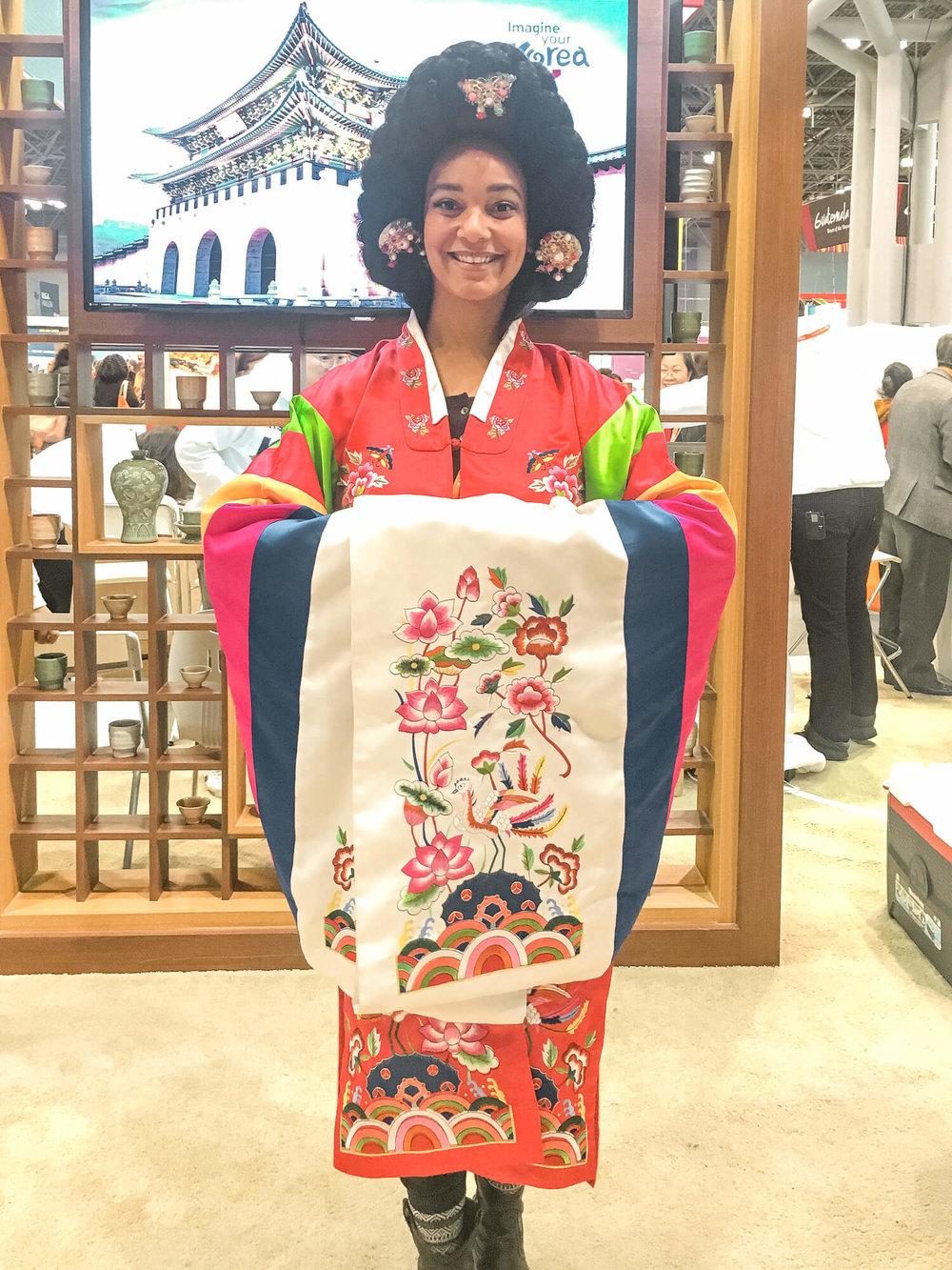 NYT Travel Show - Hanbock Experience Korea - ochristine