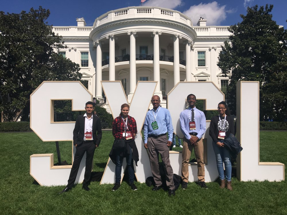 Justin Rivera, Nicoles Rosario, Melvin McCray, Matthew Smart, and Nathalie Cabrera at the South By South Lawn Festival at the White House on October 3, 2016