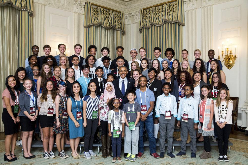 President Obama and White House Student Film Festival 2016 winners on October 3, 2016 Offiial White House Photo--2.jpg