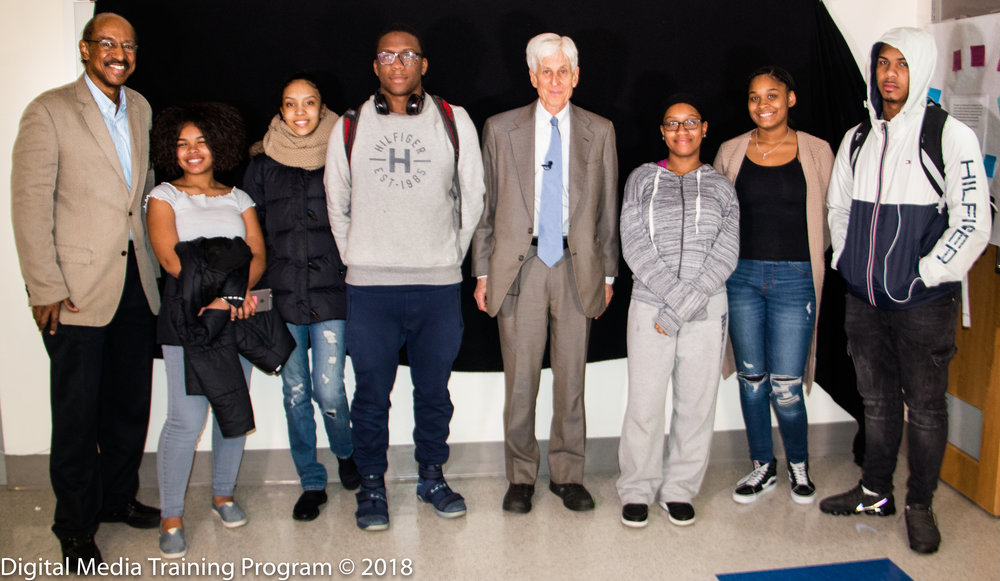 Dr. William Tucker, Melvin McCray and New Explorer students.jpg