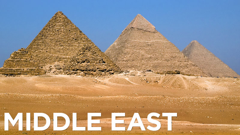 Photos of the Middle East – from the iconic Egyptian pyramids and the ancient ruins of Petra to the marble mosques and glittering skyscrapers of Abu Dhabi and Dubai