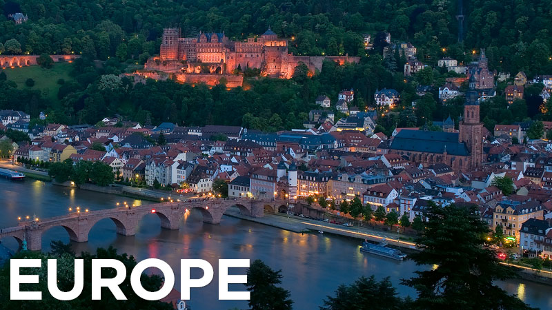 Photos of Europe – from the timeless ruins of the Acropolis in Athens to the fairytale towns and castles of Bavaria and the cathedrals and palaces of Paris, Vienna, and Prague