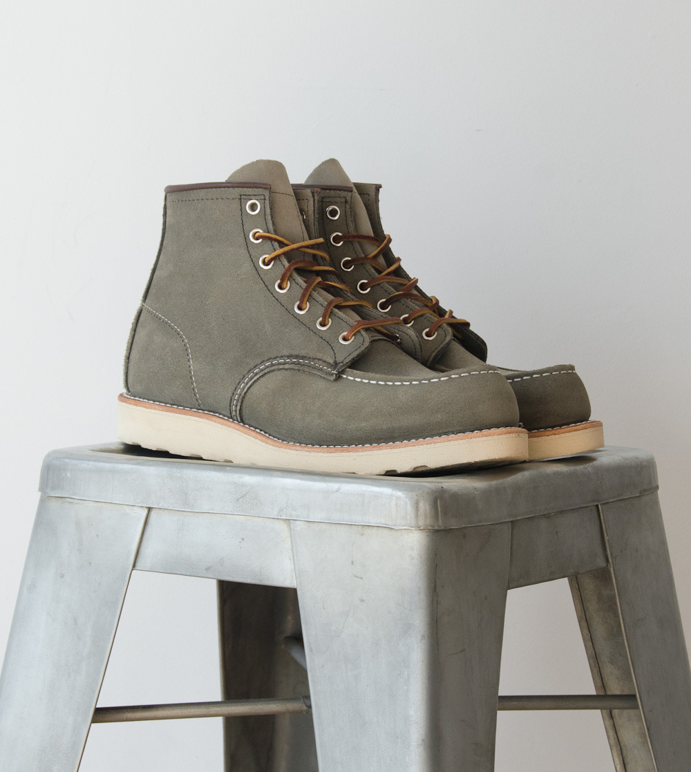 Red Wing Suede 6 inch Moc Toe
