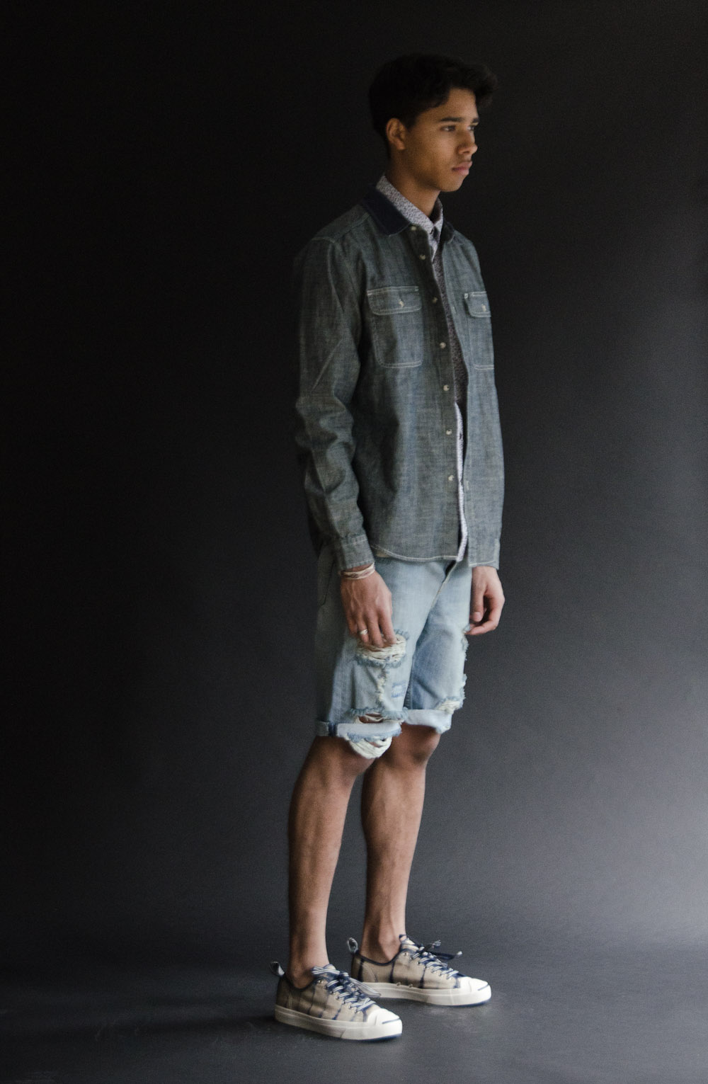 Deus Perry Shirt    Penfield Banning Shirt    Levi's   508 Regular Tapered Shorts    Converse Shibori Jack Purcell