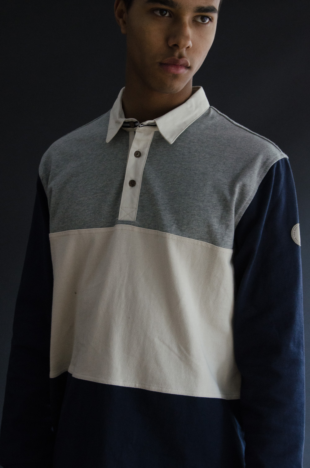 I Love Ugly Three Tone L/S Polo