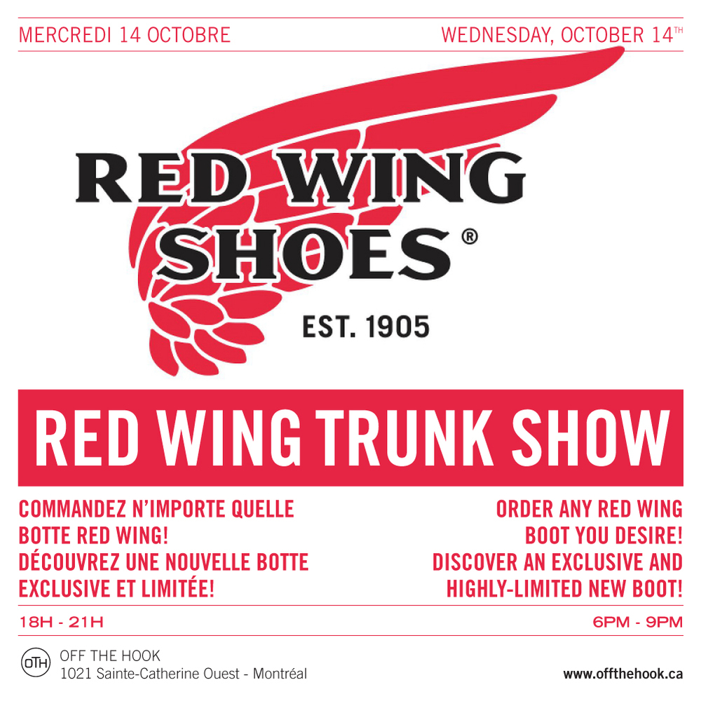 RED WING TRUNK SHOW OTH