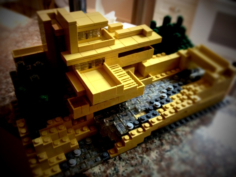 Fallingwater was awesome to build. You can't tell from the photo but it comes apart in sections so you can see inside.
