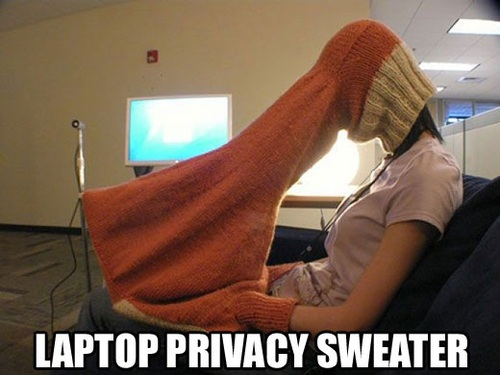 "Laptop Privacy ""sock"""
