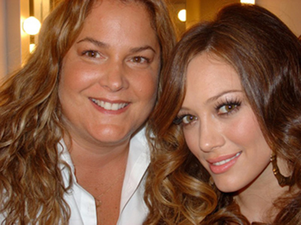 Backstage with Hilary Duff just before she performs at the Much Music awards.