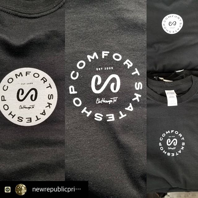 More looks at the new new. Hit up @newrepublicprinting for that 🔥#comfortskateshop #tennessee #chattanooga