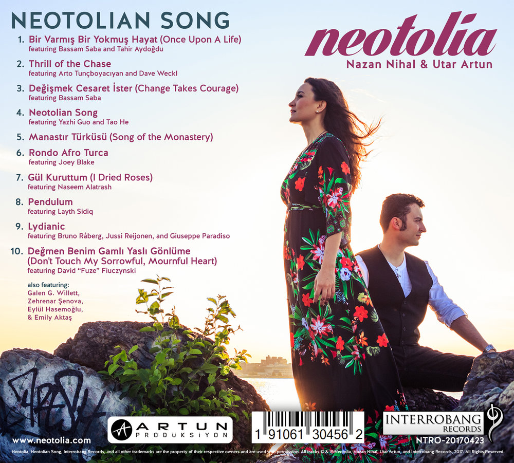 """Neotolian Song"" by Neotolia: Back Cover"