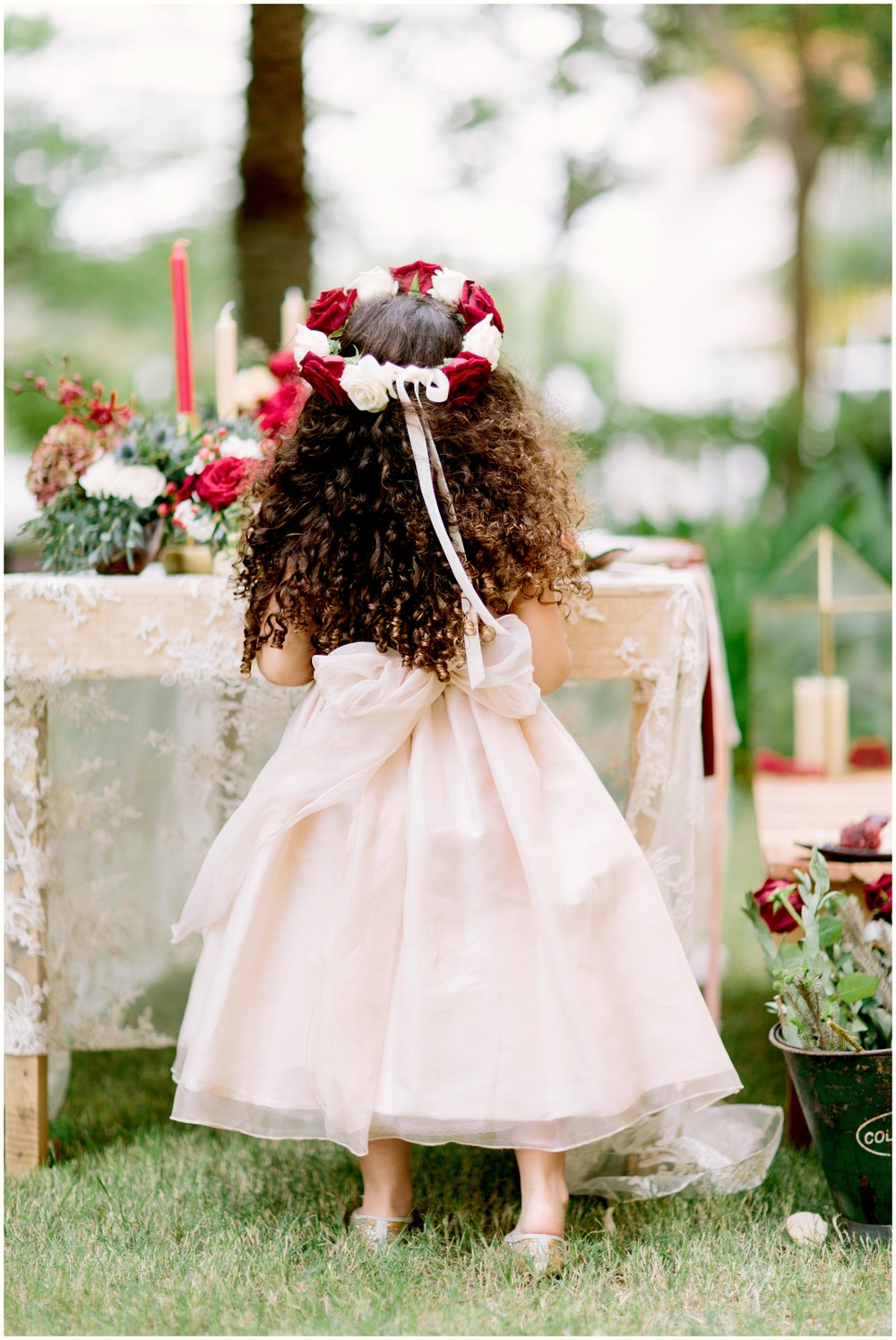 Flower Girl Dress:  The Bridal Showroom Dubai