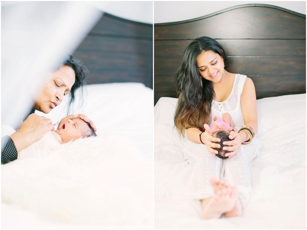 3 generations - grandma, mommy trisha and baby aarya.