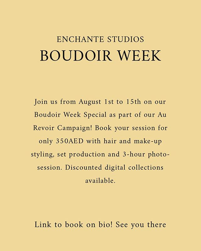 Eeeekkk! We can't believe it's almost August! Christmas is just around the corner and gifting season is coming! Ladies, here's one gift you get to enjoy and gift too 💕. See us at our Boudoir Week Special starting 1st of August. If you have inquired with us before, then you'll know this is a STEAL! Swipe for more details!